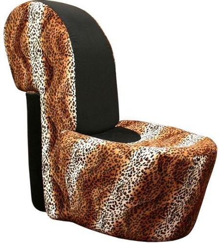 silla zapato leopardo