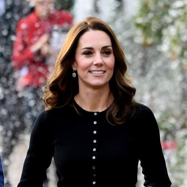 Esta Navidad queremos una falda midi de cuadros tartán como la de Kate Middleton