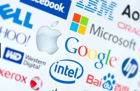 Logos of big tech companies
