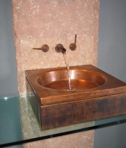 lavabo cuadrado cobre ago