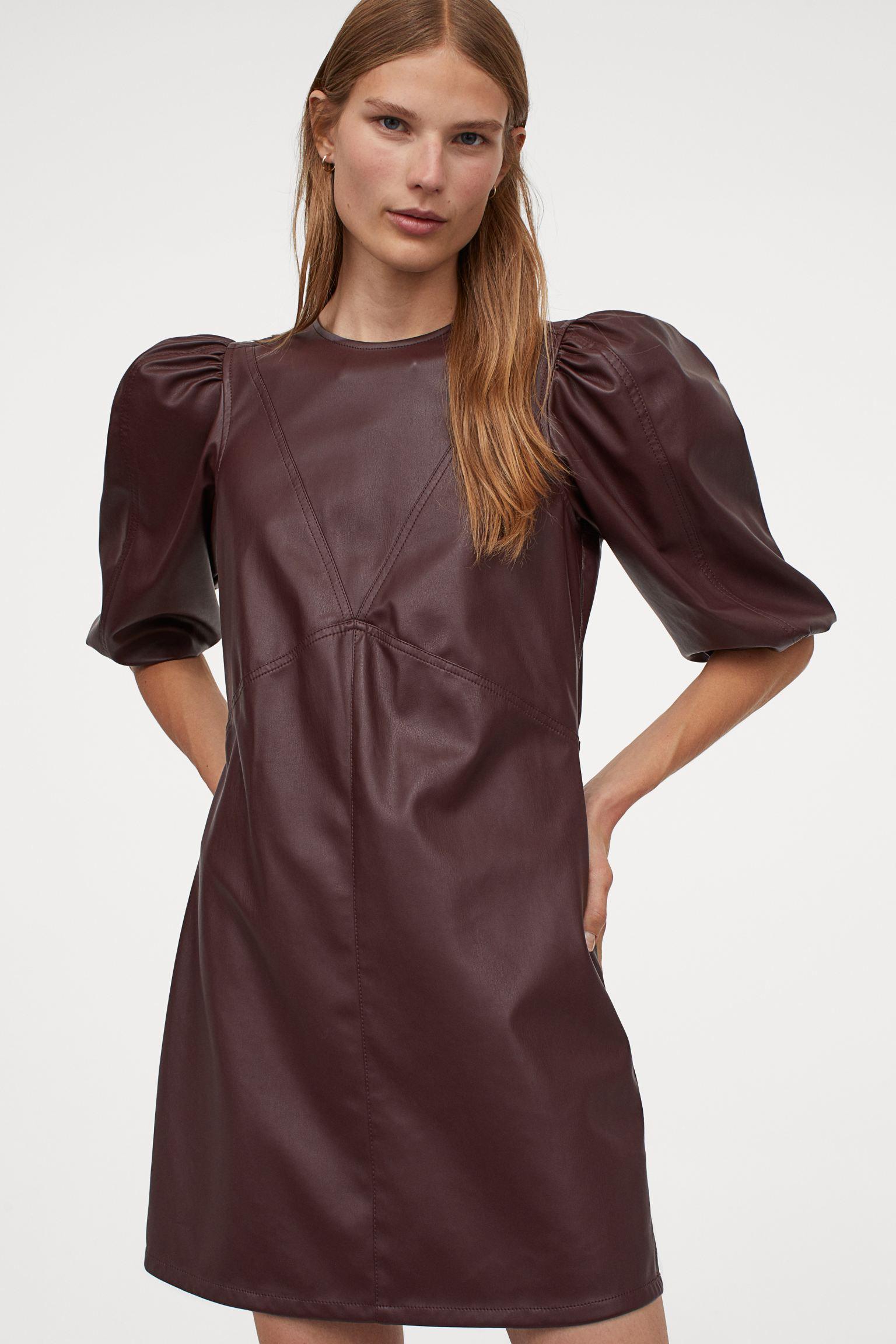 Vestido en piel sintética