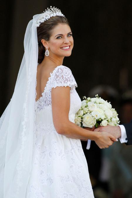 Así de guapa iba la novia: analizamos el look de Magdalena de Suecia