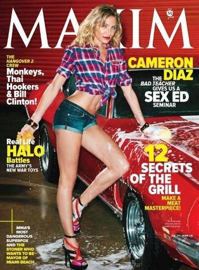 Cameron Díaz, a lo porno-chacha para la revista Maxim