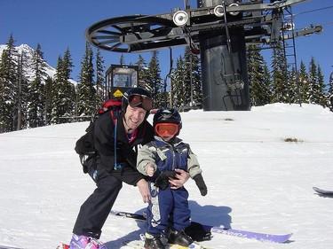 Ir a esquiar con los niños