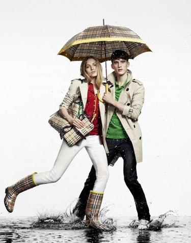 Burberry y su colección de lluvia