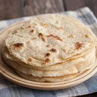 Tortillas de harina de trigo para fajitas, receta básica mexicana