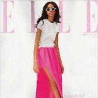 Chanel Iman de Jil Sander en Elle UK Febrero