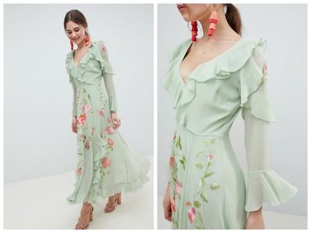 Vestido Verde Salvia