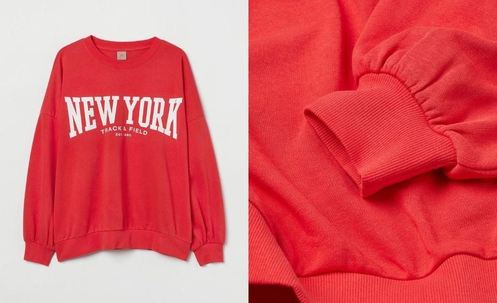 Sudadera roja H&M +