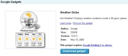 Google Desktop para Mac con soporte de Google Gadgets