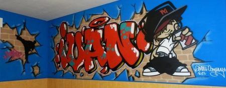 Graffiti De Nombre Ivan En Madrid 760x390