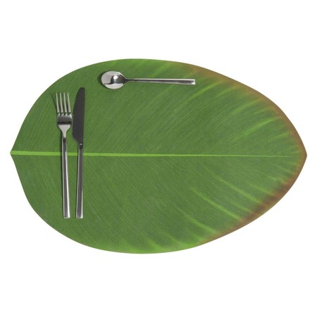 Maisonsdumondemantel Individual De Hoja Verde 31 X 47 Cm Bananier 1000 5 35 42018803 3