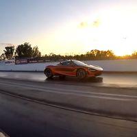 ¡Sin piedad! El McLaren 720S también puede destrozar al Lamborghini Aventador SVJ en el cuarto de milla