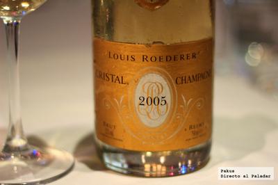 Champagne Louis Roederer, cena maridaje en Restaurante Fábula