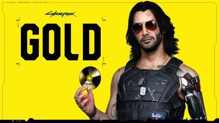 El mismísimo Johnny Silverhand sujeta el disco de oro: Cyberpunk 2077 ya es gold