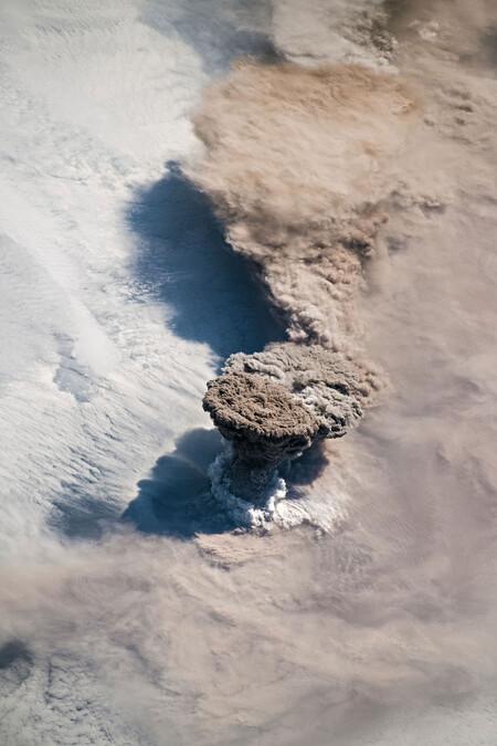 Volcan Raikoke Iss