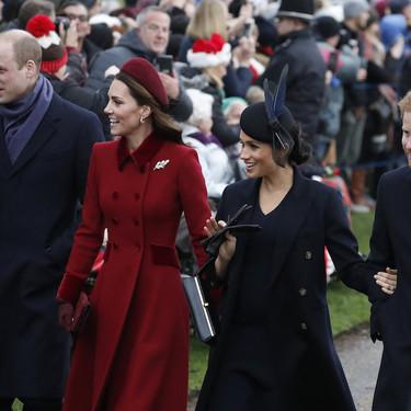 La familia real inglesa celebra las Navidades: Kate Middleton junto a Meghan Markle se convierten en las protagonistas