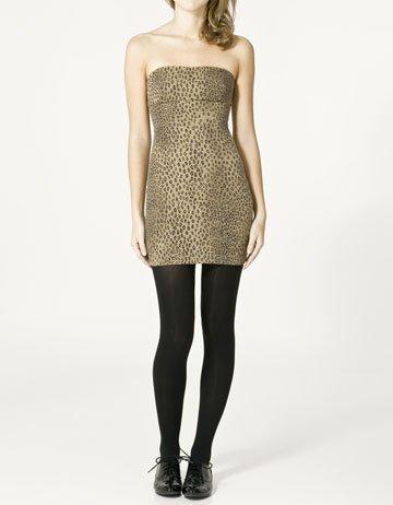 vestidos nochevieja: vestido leopardo zara