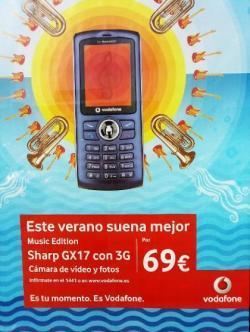 ¿Un Sharp GX17 con 3G y music edition? Fallo en la publicidad de Vodafone