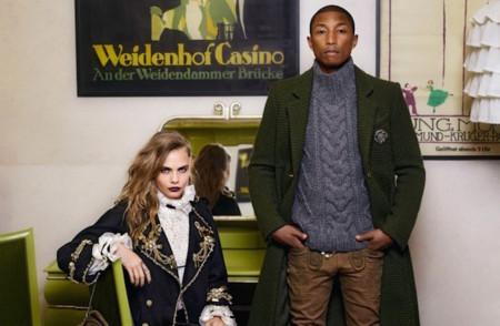 Pharrell Williams Cara Delevingne Hudson Kroenig By Karl Lagerfeld For Chanel Mc3a9tiers Dart 2014 2015 3