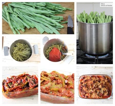 Judias Verdes Tomate Chorizo Gratinadas Pakus