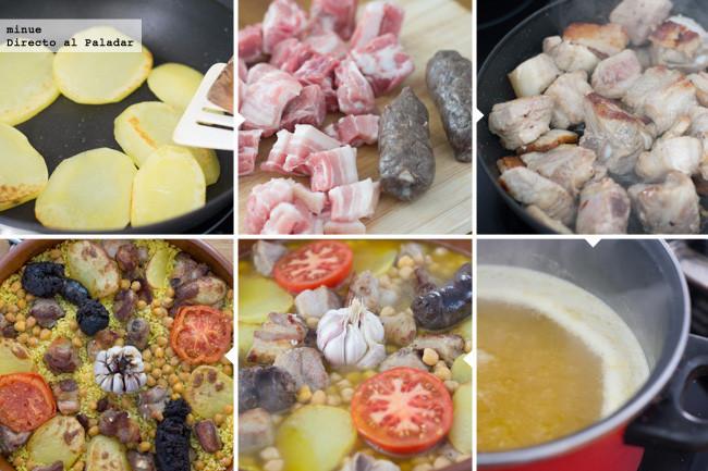 Receta tradicional de arroz al horno - preparación
