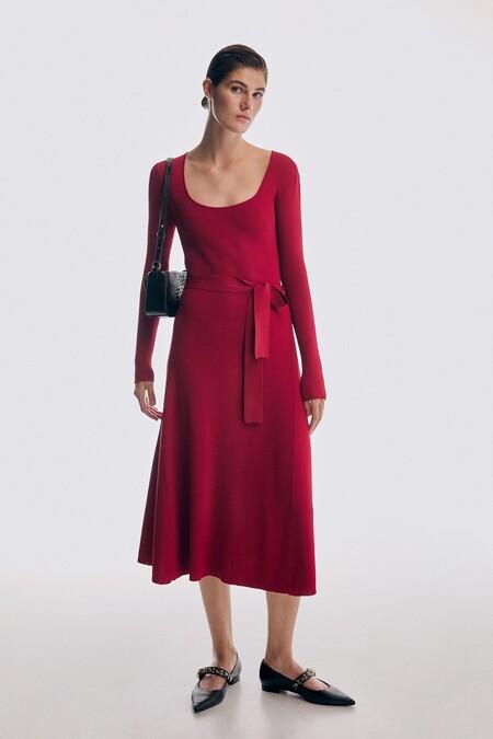 Vestido Rojo Cortefiel