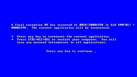 Yo escribí el pantallazo azul de la muerte de Windows