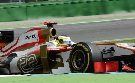 HRT se mezcla con Marussia en el Gran Premio de Alemania