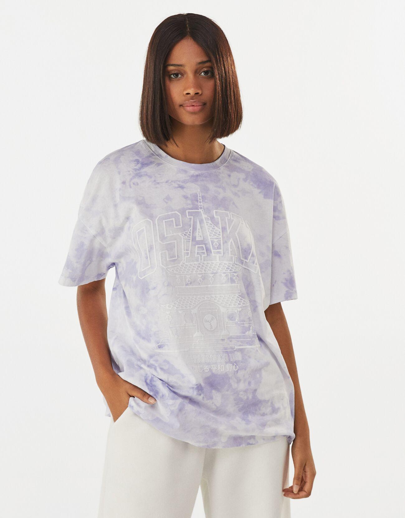 Camiseta oversize tie-dye