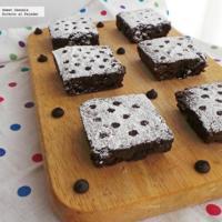 Brownies con un toque de café y sin mantequilla. Receta altitudes altas