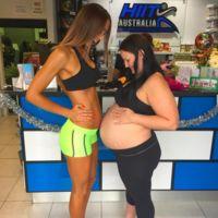 ¿Cómo es posible que solo haya un mes de diferencia entre estas dos embarazadas?