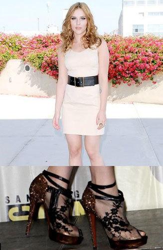 Scarlett Johansson y sus Louboutin's