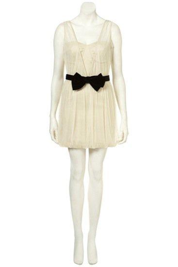 Topshop vestido crema