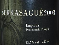 SerraSagué 2003 Crianza