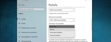 Cómo rotar o girar la pantalla en Windows 10