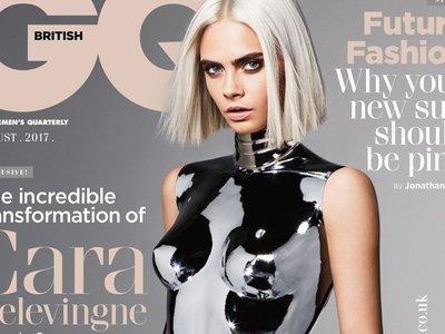 Cara Delevingne se convierte en robot (o en copia de Kate Moss) para GQ de Reino Unido