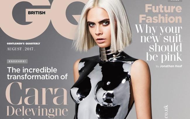 Cara Delevingne Se Convierte En Robot O Copia De Kate Moss Para Gq De Reino Unido 1