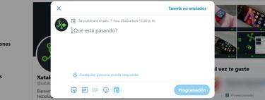 Cómo programar tweets desde la web de Twitter sin instalar nada