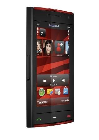 Nokia X6, móvil musical con pantalla táctil y barra libre de música