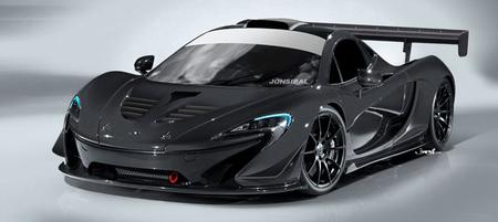 McLaren P1 vestido de competición