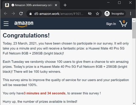 Amazon Whatsapp Anniversary Scam