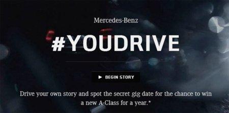 Mercedes pide a los usuarios de Twitter que decidan por dónde avanza la historia de uno de sus anuncios con #YouDrive