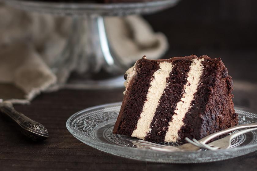 Tarta de chocolate con un toque de café