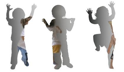 Espejos con forma de niños