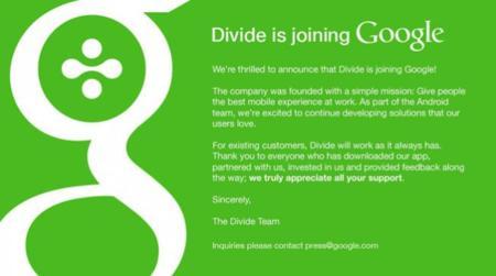 Google ha comprado Divide para mejorar la experiencia que ofrece Android en el trabajo