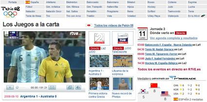 La cobertura olímpica de Televisión Española