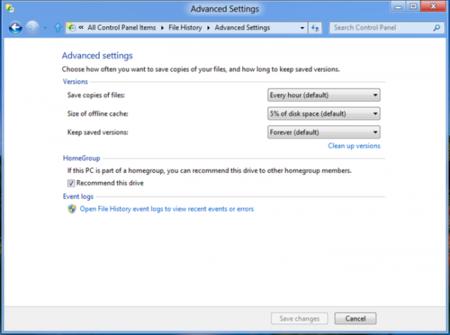 Configuración de File History