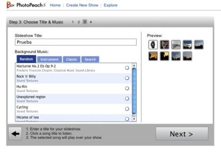 PhotoPeach, una forma  sencilla de crear pases de imágenes en Internet