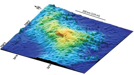 Se descubre el volcán más grande de la Tierra